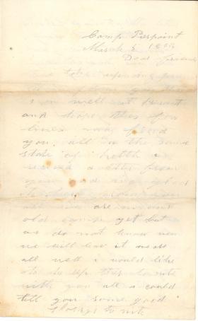 Letters from John Cuddy (Mar. - Apr. 1862)