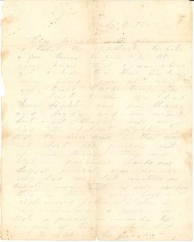 Letters from John Cuddy (Jul. - Oct. 1862)