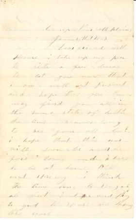 Letters from John Cuddy (Jan. - Feb. 1863)