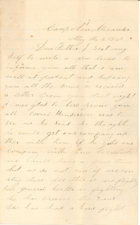 Letters from John Cuddy (May – Jun. 1863)