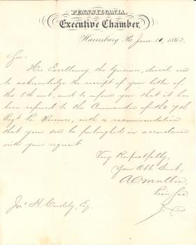 Letter from A. C. Mullin to John H. Cuddy