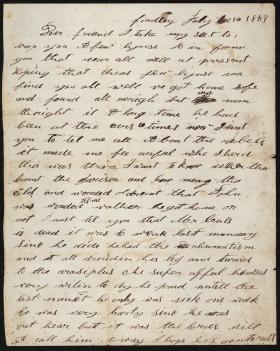 Letter from Susanna Thompson to Agnes Cuddy