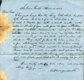 Letters from William Wagenseller to Eli Slifer