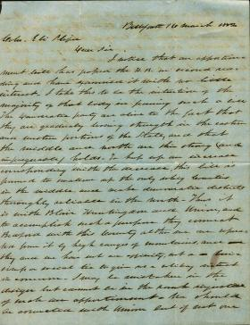 Letters from Andrew Curtin to Eli Slifer, 1852-57