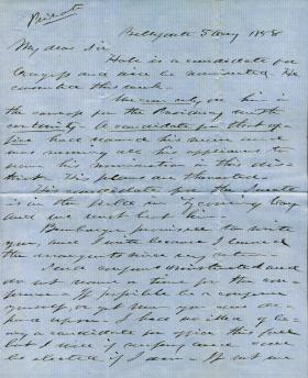 Letters from Andrew Curtin to Eli Slifer, 1858-59