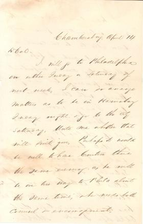 Letters from Alexander McClure to Eli Slifer, 1860-62