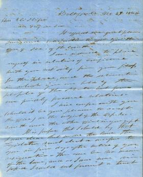 Letters from Andrew Curtin to Eli Slifer, 1860-63