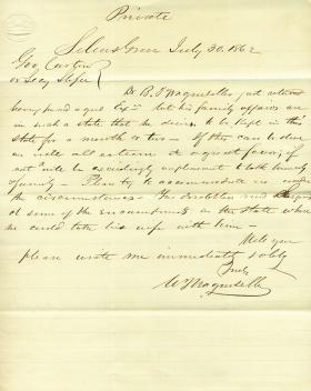 Letters from William Wagenseller to Eli Slifer