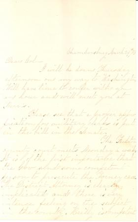 Letters from Alexander McClure to Eli Slifer, 1863-66