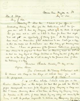 Letters from Everard Bierer to Eli Slifer