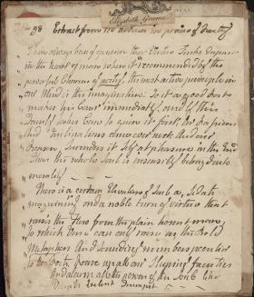 Commonplace Book of Elizabeth G. Fergusson