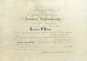 Honorary Doctor of Laws Diploma - Charles Himes