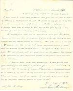 Letter from James Buchanan to John R. Savage