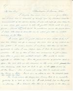 Letters from James Buchanan to Reah Frazer