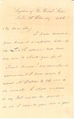 Letter from James Buchanan to Mr. Tyler