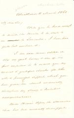 Letter from James Buchanan to James Gordon Bennett