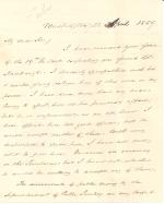 Letter from James Buchanan to Charles Wentz