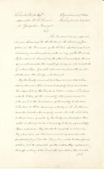Letter from James Buchanan to Charles Ward