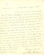 Letter from James Buchanan to Reuel William