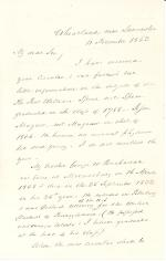 Letter from James Buchanan to Herman Johnson