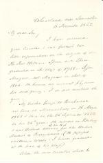 Letter from James Buchanan to Herman Johnson