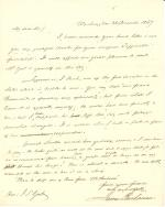 Letter from James Buchanan to Jacob S. Yost
