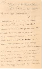 Letter from James Buchanan to Eliza Watterston