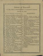 1810 Commencement Program