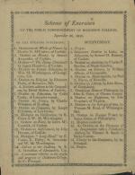 1810 Commencement Program