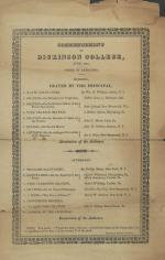 1823 Commencement Program