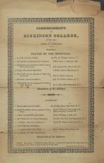 1823 Commencement Program