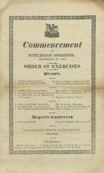 1826 Commencement Program