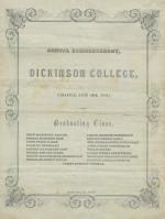 1851 Commencement Program