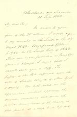 Letter from James Buchanan to A. T. Goodman