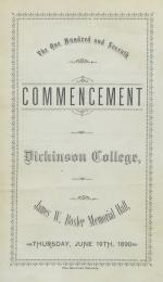 1890 Commencement Program