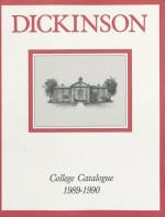 Dickinson College Bulletin, Annual Catalogue Issue, 1989-90