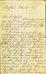 Letter from Amy A. Carothers to Cornelius R. Agnew