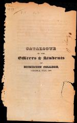 Catalogue of the Officers & Students of Dickinson College, 1827-28