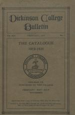 Catalogue of Dickinson College, Annual Session, 1919-20