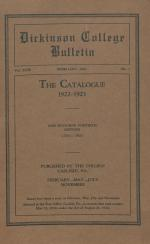 Catalogue of Dickinson College, Annual Session, 1922-23