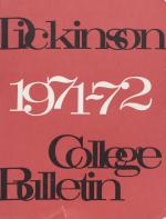 Dickinson College Bulletin, Annual Catalogue Issue, 1971-72