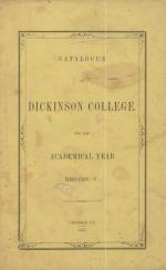 Dickinson College Catalog, 1854-55
