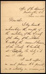 Letter from David Porter to Horatio Collins King