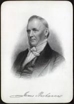 Engraving of James Buchanan