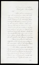 Letter from James Buchanan to John Davis