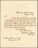 Letter from Jacob Thompson to John Leonard