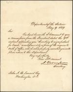 Letter from Jacob Thompson to John Leonard