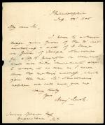 Letter from Benjamin Rush III to Jervis Spencer