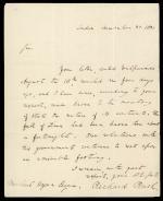 Letter from Richard Rush to Michael Hogan