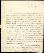 Letter from Roger B. Taney to C. J. Faulkner